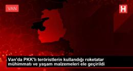 Son dakika haberi: Van'da PKK'lı teröristlerin kullandığı roketatar mühimmatı ve yaşam malzemeleri ele geçirildi